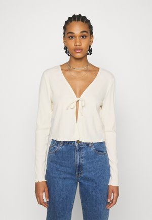 VMRILEY CROP - Strikjakke /Cardigans - birch