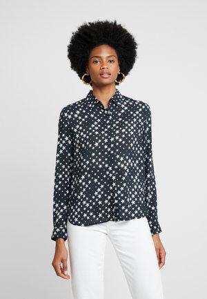 KIZAXO - Overhemdblouse - black/white