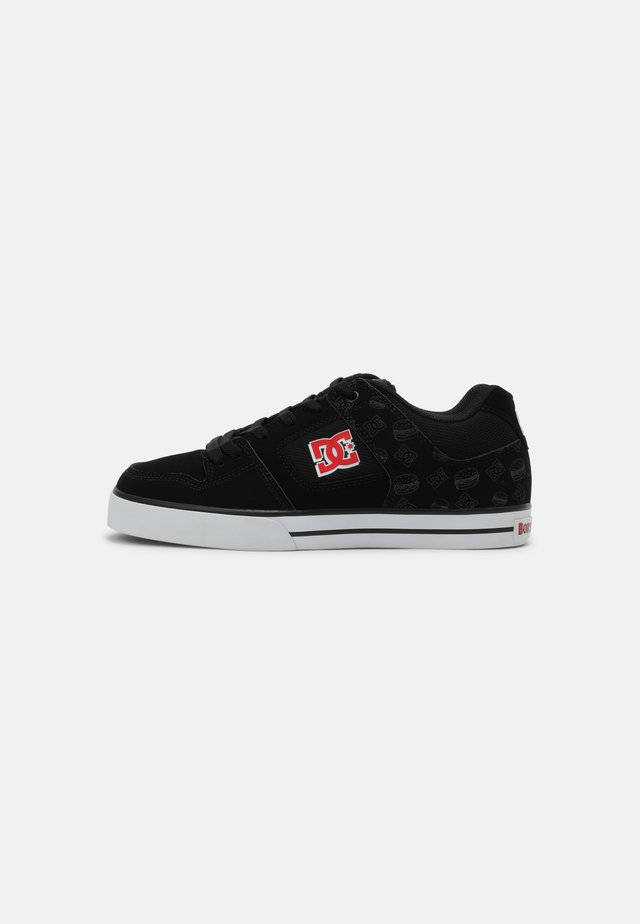 BOBS PURE UNISEX - Trainers - black/white/red