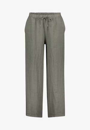 MIT BINDEGÜRTEL - Trousers - linen green