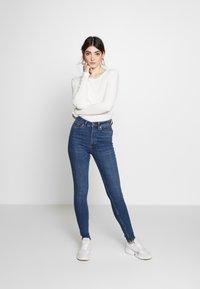 Monki - OKI NEW - Jeansy Skinny Fit - blue medium dusty - 1