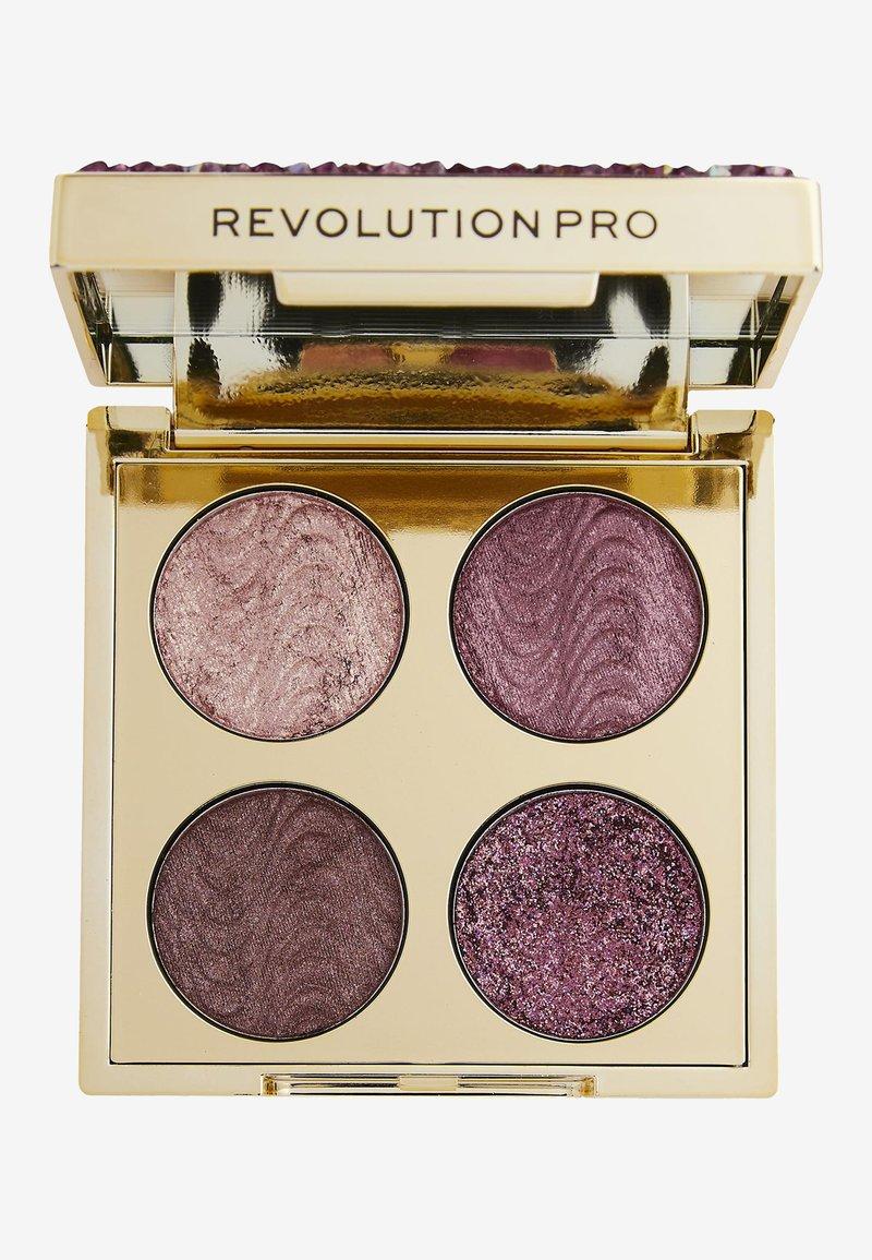 Revolution PRO - ULTIMATE CRYSTAL EYE QUAD - Eyeshadow palette - pink topaz