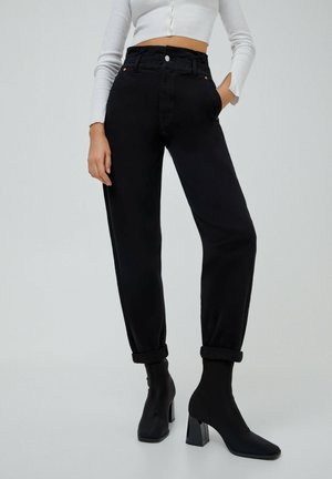PAPERBAG - Jeans baggy - black