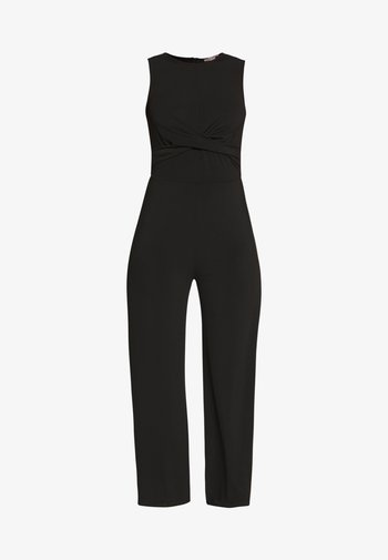 FRONT KNOT SOLID JUMPSUIT