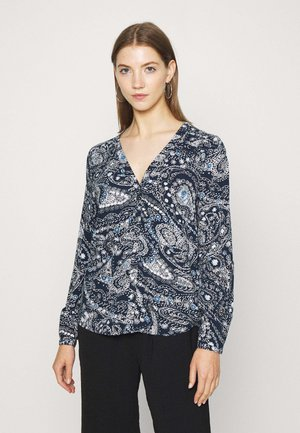 ONLNOVA LIFE PLACKET  - Blouse - night sky/indigo
