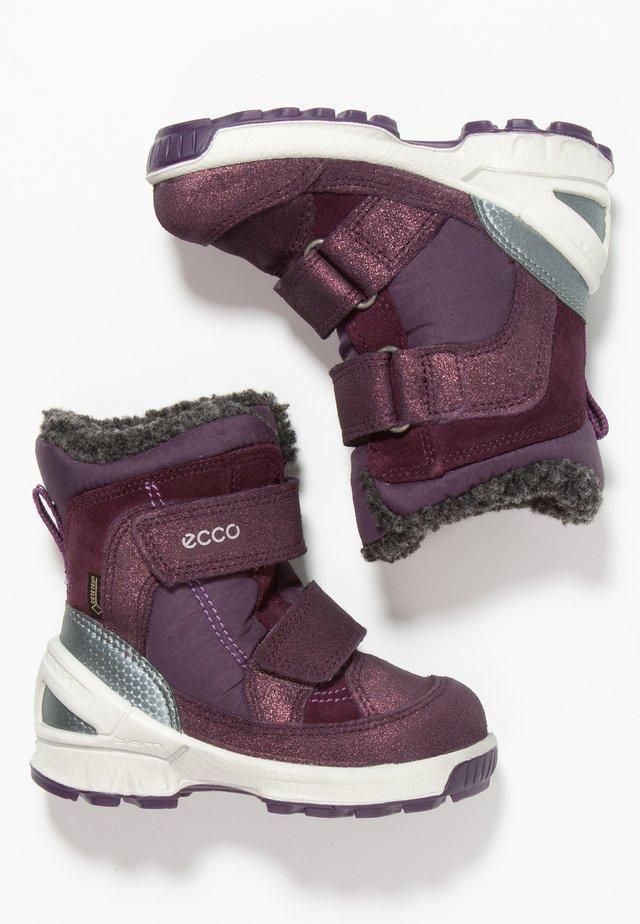 BIOM HIKE INFANT - Winter boots - night shade/barolo/mauve