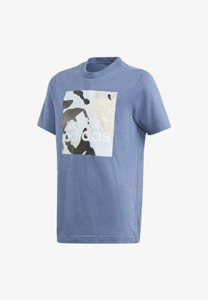 T-SHIRT GRAPHIQUE CAMO - Print T-shirt - blue
