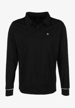 CARLOS - Polo shirt - black/white