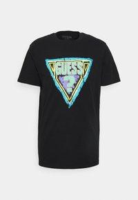 BRUSHED TRIANGLE  - Print T-shirt - jet black
