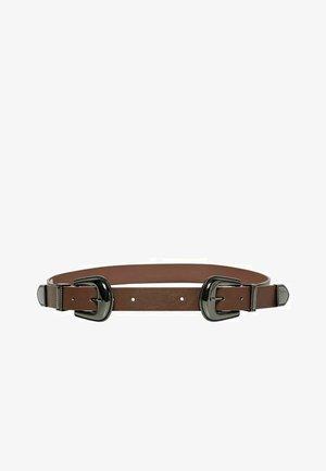 Waist belt - chocolate brown
