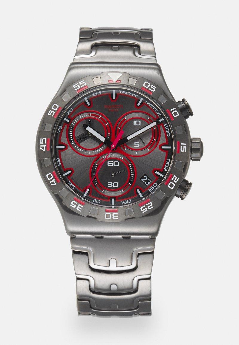 Swatch - CRAZY DRIVE - Zegarek chronograficzny - silver-coloured