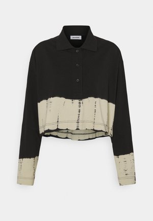 KALANI CROPPED LONG SLEEVE - Poloshirts - black