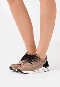 LOVE OUR PLANET by MARCO TOZZI - LACE UP - Sneakers basse - taupe - 0