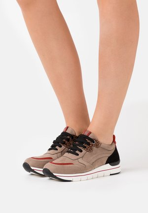 LACE UP - Sneakers basse - taupe