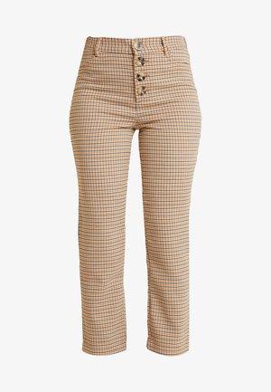 GYM CUADROS BOT - Pantaloni - beige/camel