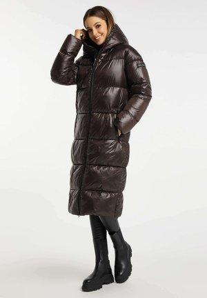SHELLY - Winter coat - chocolate bar
