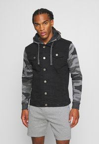 Brave Soul - HUDSONCAMO - Denim jacket - black - 0