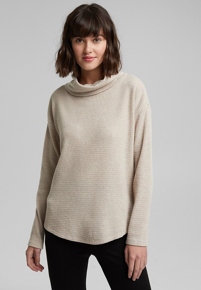 FASHION - Long sleeved top - beige