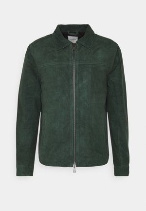 SLHARON - Leather jacket - dark green
