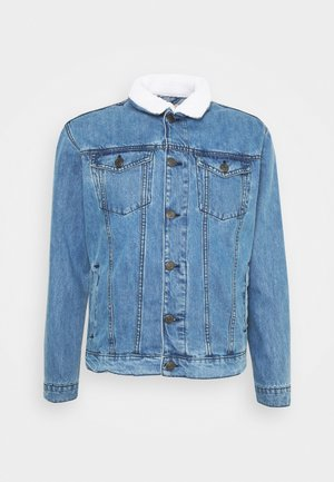 BORG TRUCKER - Denim jacket - blue