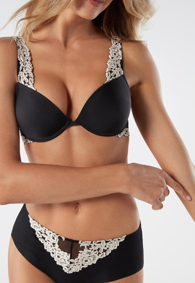 PUSH-UP-BH BELLISSIMA PRETTY FLOWERS - Soutien-gorge push-up - nero/ivory