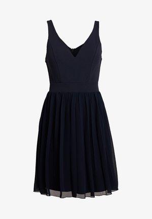 V NECK BOTTOM MINI DRESS - Vestido informal - navy