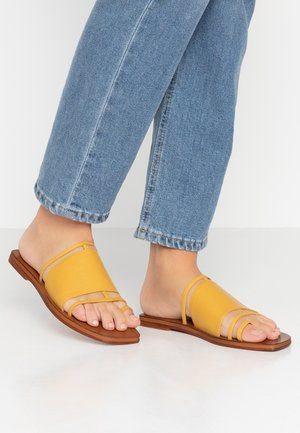 FORTUNE - T-bar sandals - mustard