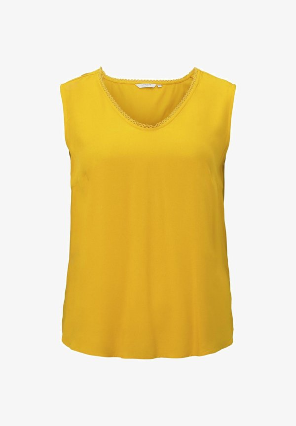 MY TRUE ME TOM TAILOR MIT HÄKEL - Bluzka - deep golden yellow/musztardowy IHJW