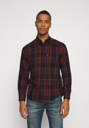 SUNSET POCKET STANDARD - Camicia - bordeaux