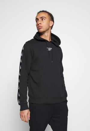 TAPE HOODIE - Sweat à capuche - black