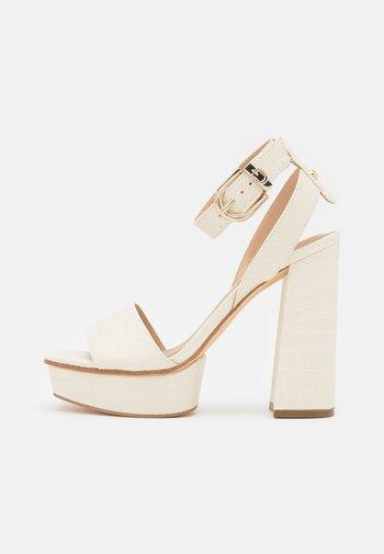 RIPPA - Platform sandals - cream