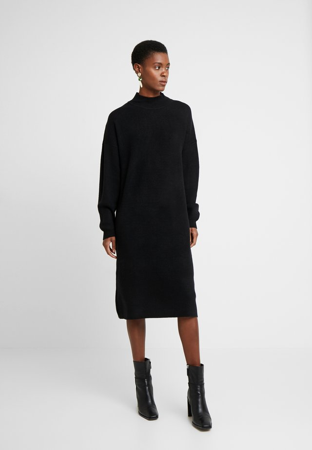 WOOL MIX DRESS - Neulemekko - black
