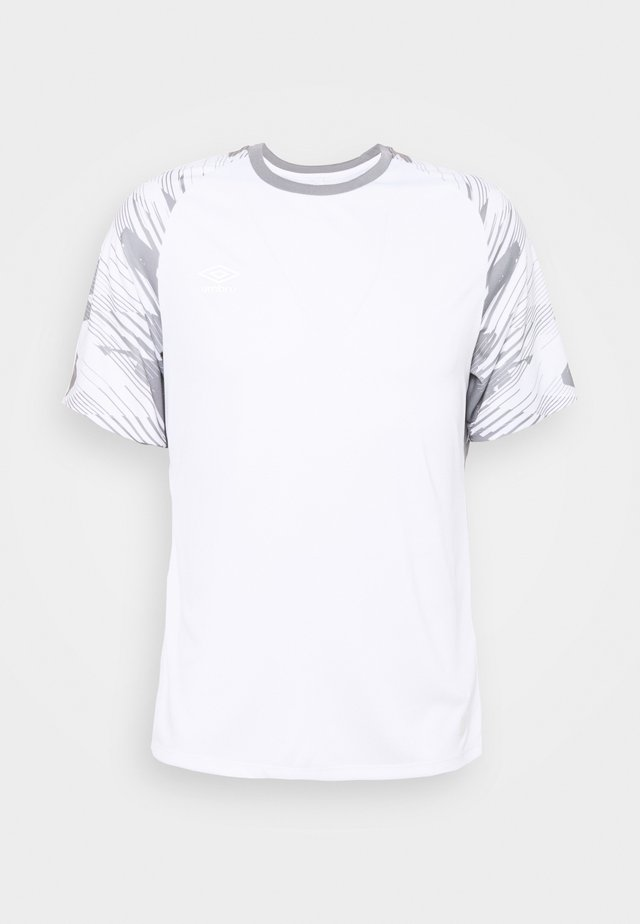 TRAINING - Camiseta estampada - brilliant white/frost gray