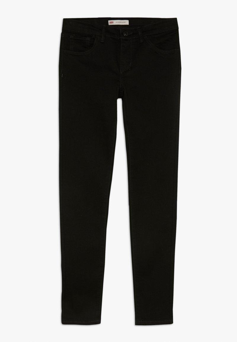 Levi's® - 710 SUPER SKINNY - Jeans Skinny Fit - rinsed black