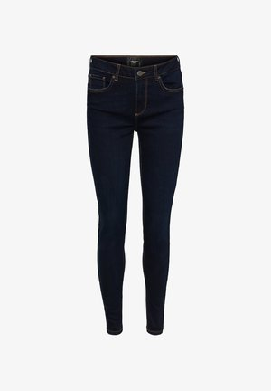 VMLUX NORMAL WAIST - Slim fit jeans - dark blue denim