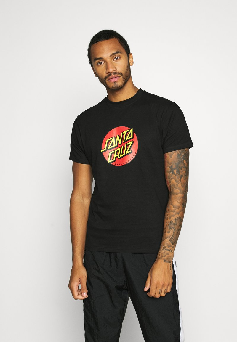Santa Cruz - UNISEX CLASSIC DOT  - Print T-shirt - black