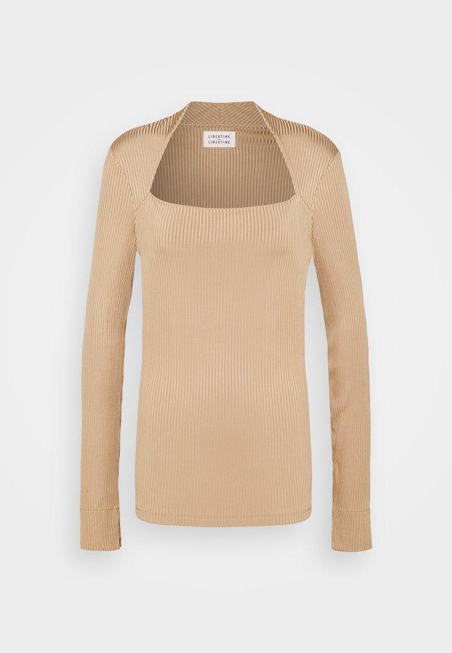 TONE - T-shirt à manches longues - camel