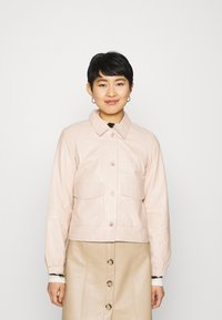 ALIGNE - CAMPBELL  - Leather jacket - buttermilk - 0