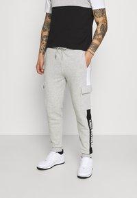 Kings Will Dream - CHAPMAN  - Cargo trousers - grey marl/black/white - 0