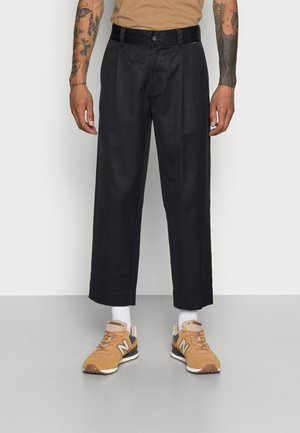 MIXED BUSINESS SUIT PANT - Trousers - black