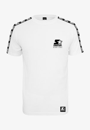 LOGO TAPED - Print T-shirt - white