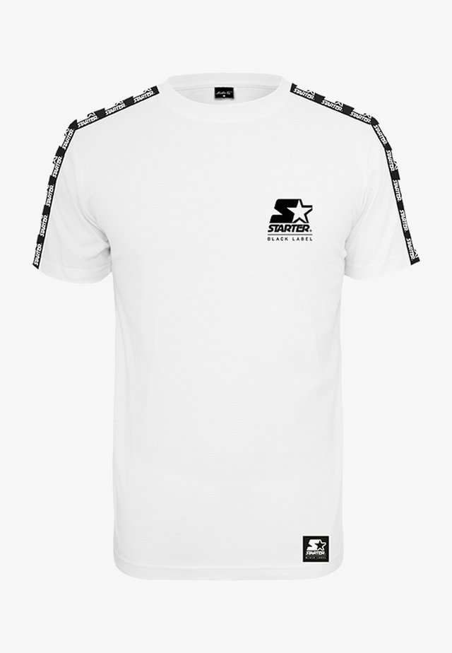 LOGO TAPED - T-shirt imprimé - white
