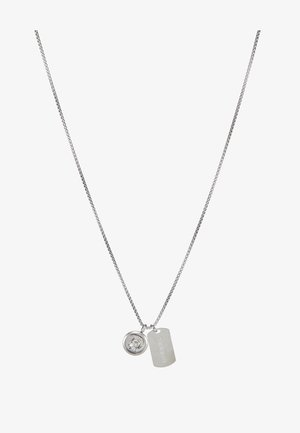 DOUBLE PENDANT - Ketting - silver-coloured