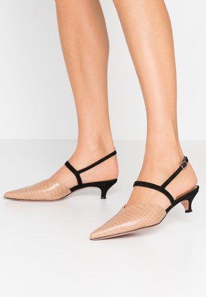 SAMMY - Classic heels - cocco keis noce/nero