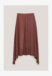 Massimo Dutti - FLIESSENDER  - A-line skirt - bordeaux - 3