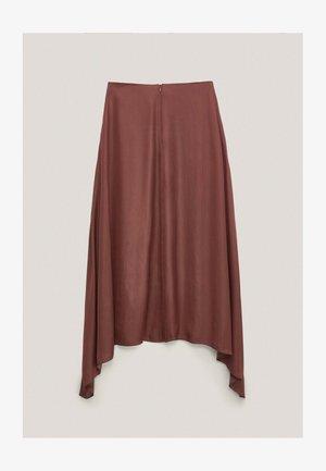 FLIESSENDER  - A-line skirt - bordeaux