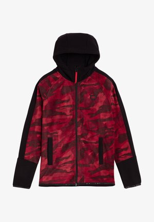 Fleece jacket - red aop