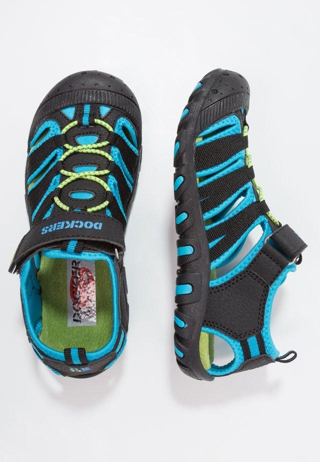 Walking sandals - schwarz/royal
