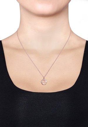 Weltkugel Globus - Necklace - roségold-coloured