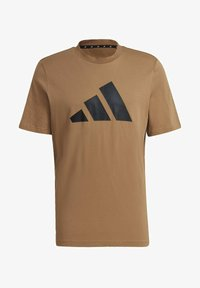 adidas Performance - Print T-shirt - brown - 6